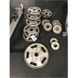 Intek Weight Plates - 210 Lbs. Total c/o: (1) 45 Lb., (5) 25 Lb., (1) 10 Lb., (5) 5 Lb. & (2) 2.5