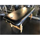 Living Earthcrafts Wood Base Upholstered Top Workout Table