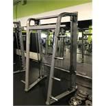Life Fitness Smith Press #SSM S/N: SSM1210061 w/Adjustable Bar