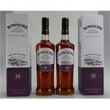 Lot 1321 - Bowmore 18-year-old Islay Single Malt Whisky, 2 bottles,