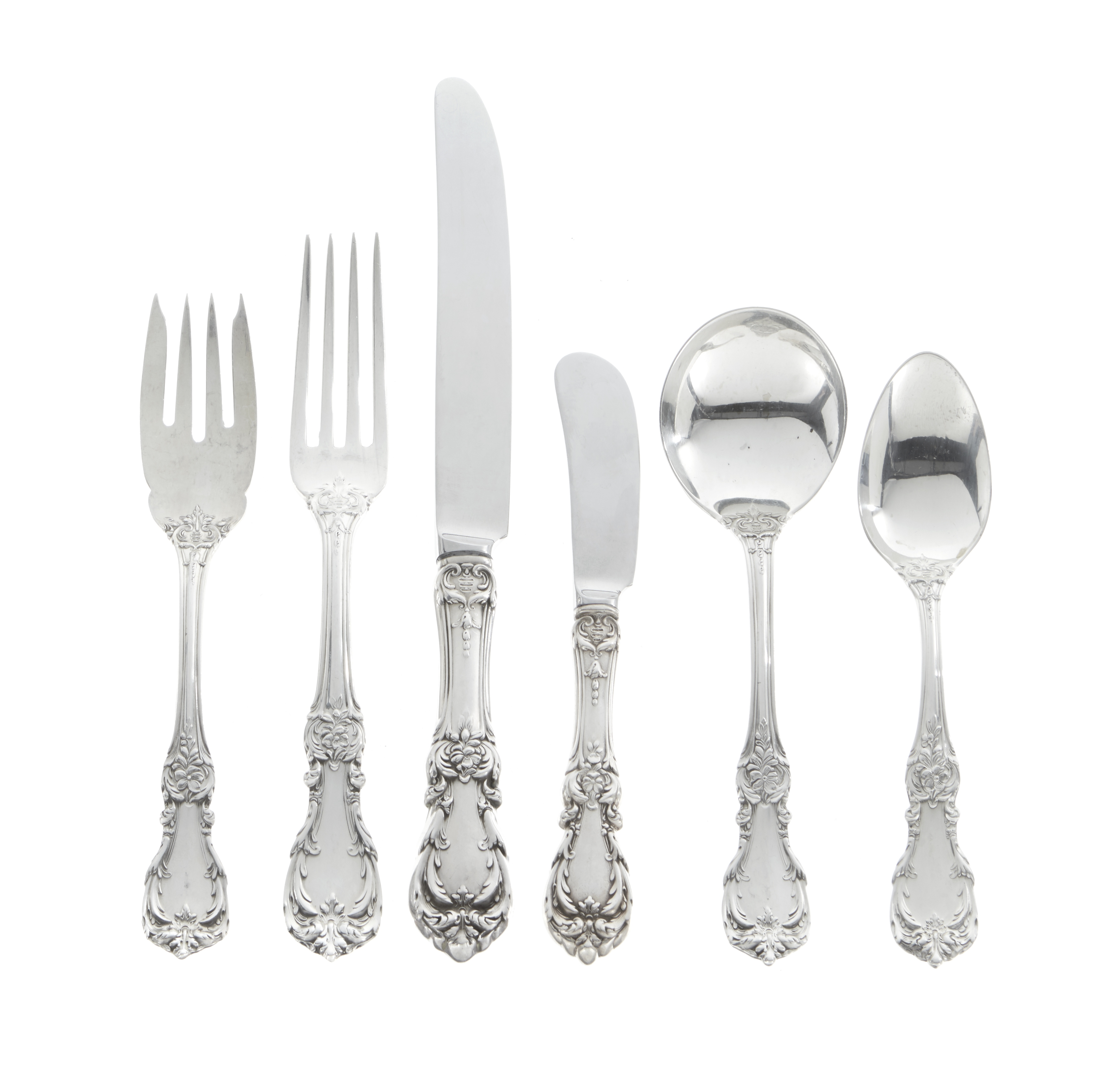An American sterling silver partial flatware service by Reed & Barton, Taunton, MA, 20th century
