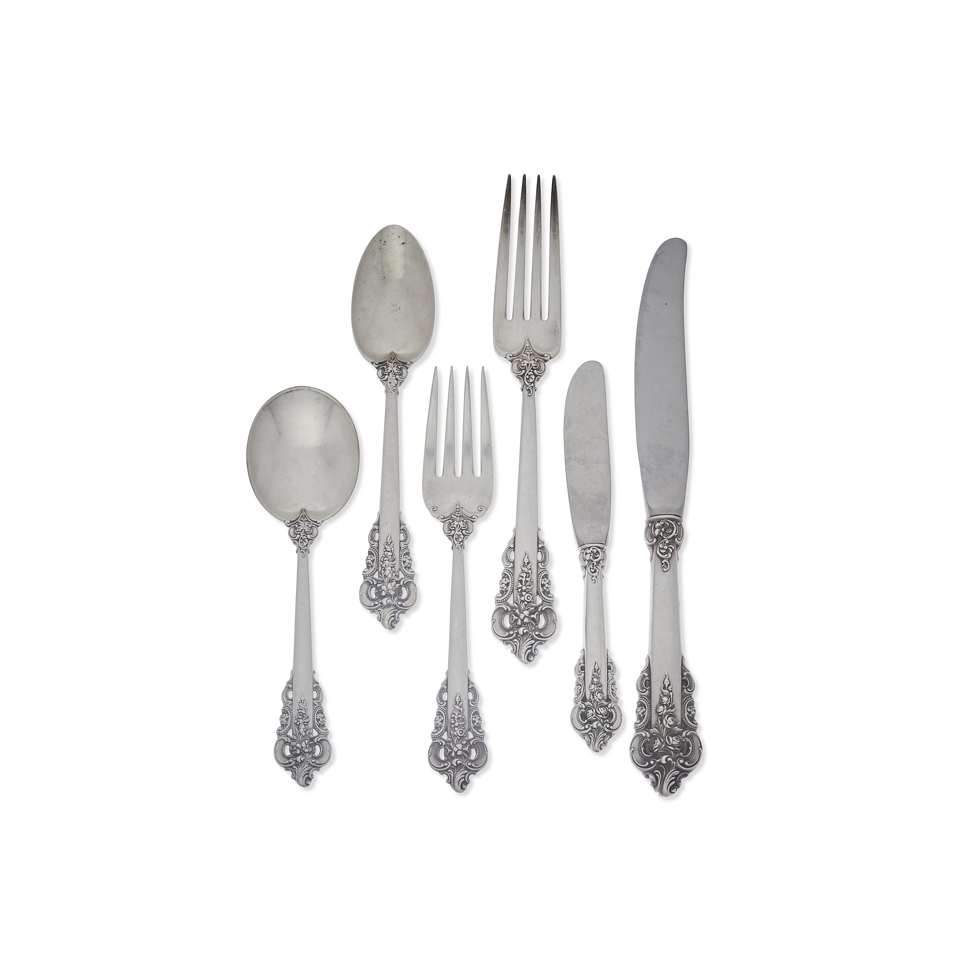 An American sterling silver flatware service by Wallace Silversmiths, Wallingford, CT, 20th century