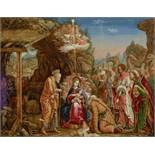 Manner of Andrea Mantegna Adoration of the Magi 31 x 39 1/2in (78.8 x 100.3cm)