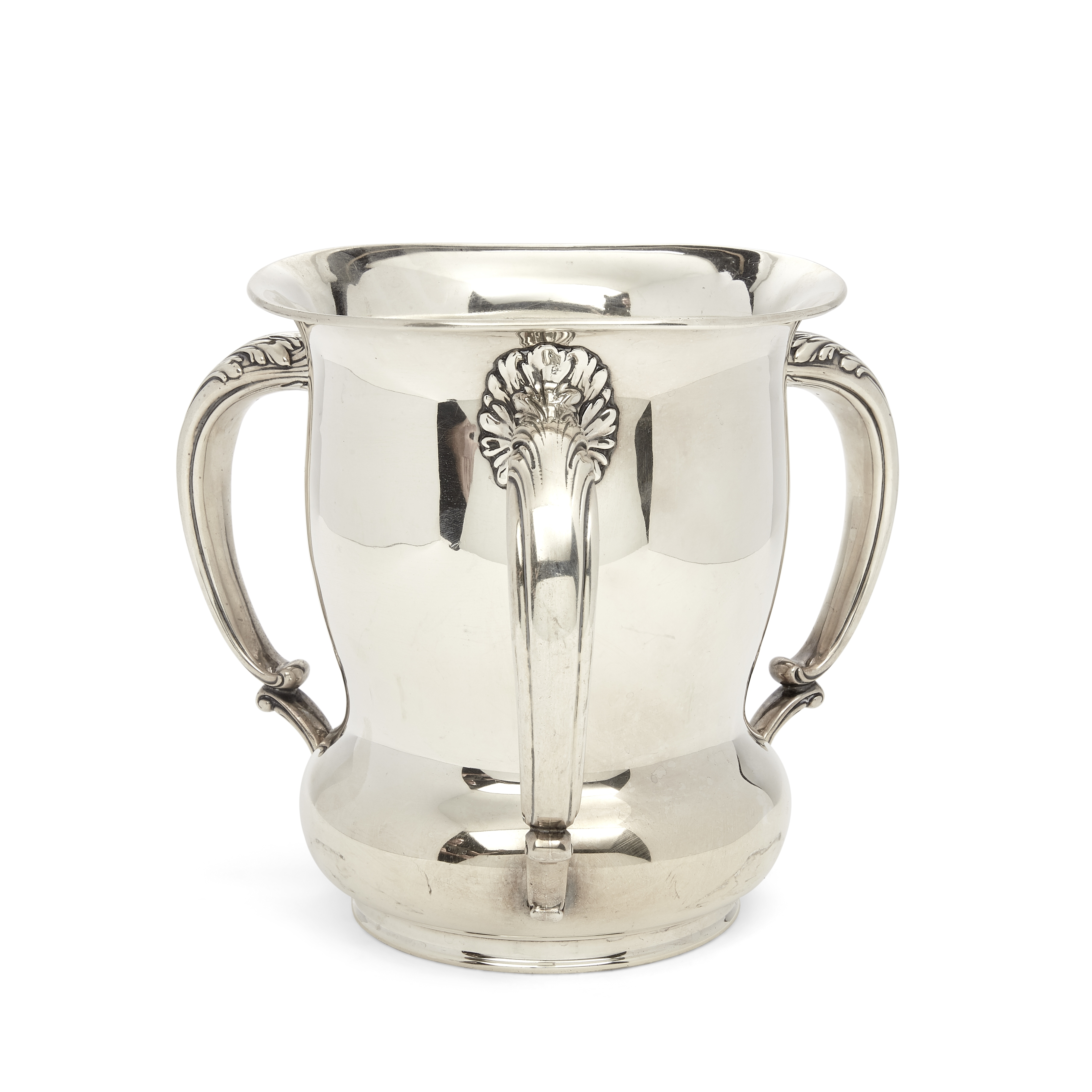 An American sterling silver three-handled loving cup by Gorham Mfg. Co., Providence, RI, 20th cen...