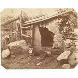 August Kotzsch. Meine Hundehütte mit schlafendem Hund. Um 1861