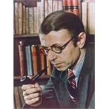 Gisèle Freund. Jean-Paul Sartre, Paris. 1939