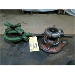 LOT OF PIPE THREADING HEADS (2), assorted