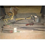 LOT OF HAND TOOLS & MISC., assorted (under three tables)