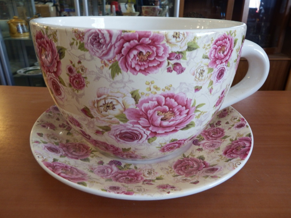 Large Tea Cup And Saucer Planter