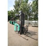 Mitsubishi Stand-Up Narrow Aisle Reach Forklift, M/N EDR15HN-36V, S/N 3DR3623701, 3,000 lb.
