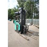 Mitsubishi Stand-Up Narrow Aisle Reach Forklift, M/N EDR15HN-36V, S/N 3DR3427720, 3,000 lb.