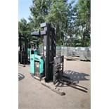 Mitsubishi Stand-Up Narrow Aisle Reach Forklift, M/N EDR15HN-36V, S/N 3DR3635701, 3,000 lb.