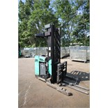 Mitsubishi Stand-Up Narrow Aisle Reach Forklift, M/N EDR15N, S/N 3DR3622715, 3,000 lb. Lifting