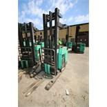 Mitsubishi Stand-Up Narrow Aisle Reach Forklift, M/N EDR15N, 3,000 lb. Lifting Capacity, with 36