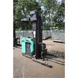 Mitsubishi Stand-Up Narrow Aisle Reach Forklift, M/N EDR15N, S/N 2DR3411702, 3,000 lb. Lifting