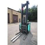 Mitsubishi Stand-Up Narrow Aisle Reach Forklift, M/N EDR15HN-36V, S/N 6SR3740708, 2,250-4,000 lb.