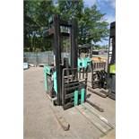 Mitsubishi Stand-Up Narrow Aisle Reach Forklift, M/N EDR15N, S/N 2DR3410713, 3,000 lb. Lifting