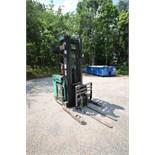 Mitsubishi Stand-Up Narrow Aisle Reach Forklift, M/N EDR15HN, S/N 3DR3622714, 3,000 lb. Lifting