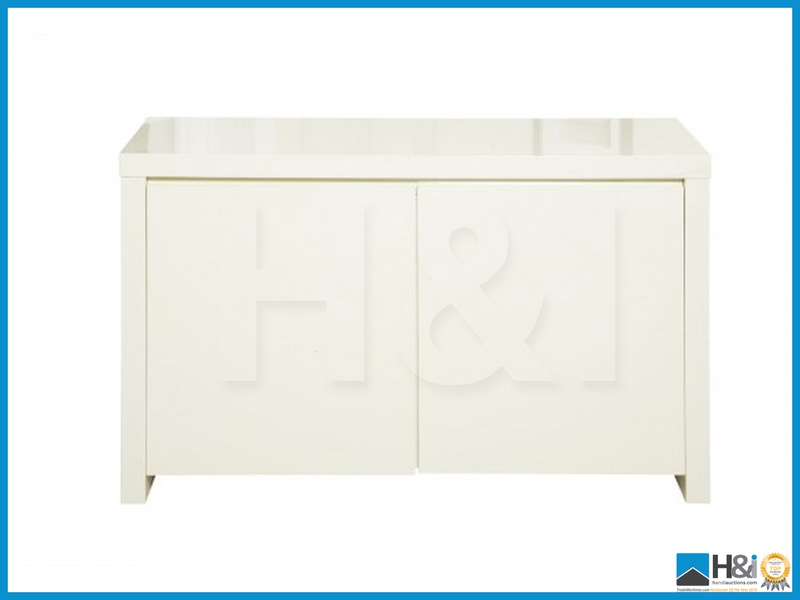 Unchecked customer returns puro high gloss sideboard cream for Sideboard puro