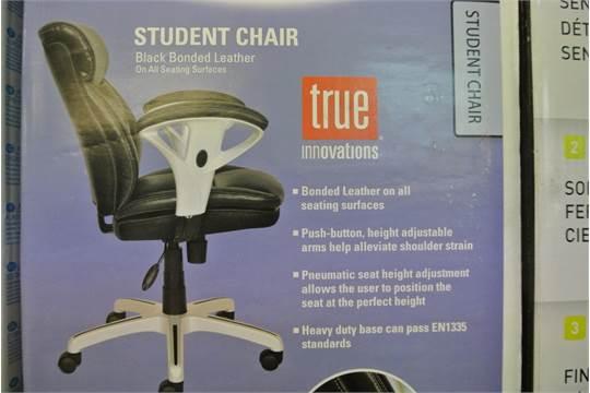 Brilliant 1 Boxed True Innovations Black Bonded Leather Gas Lift Machost Co Dining Chair Design Ideas Machostcouk