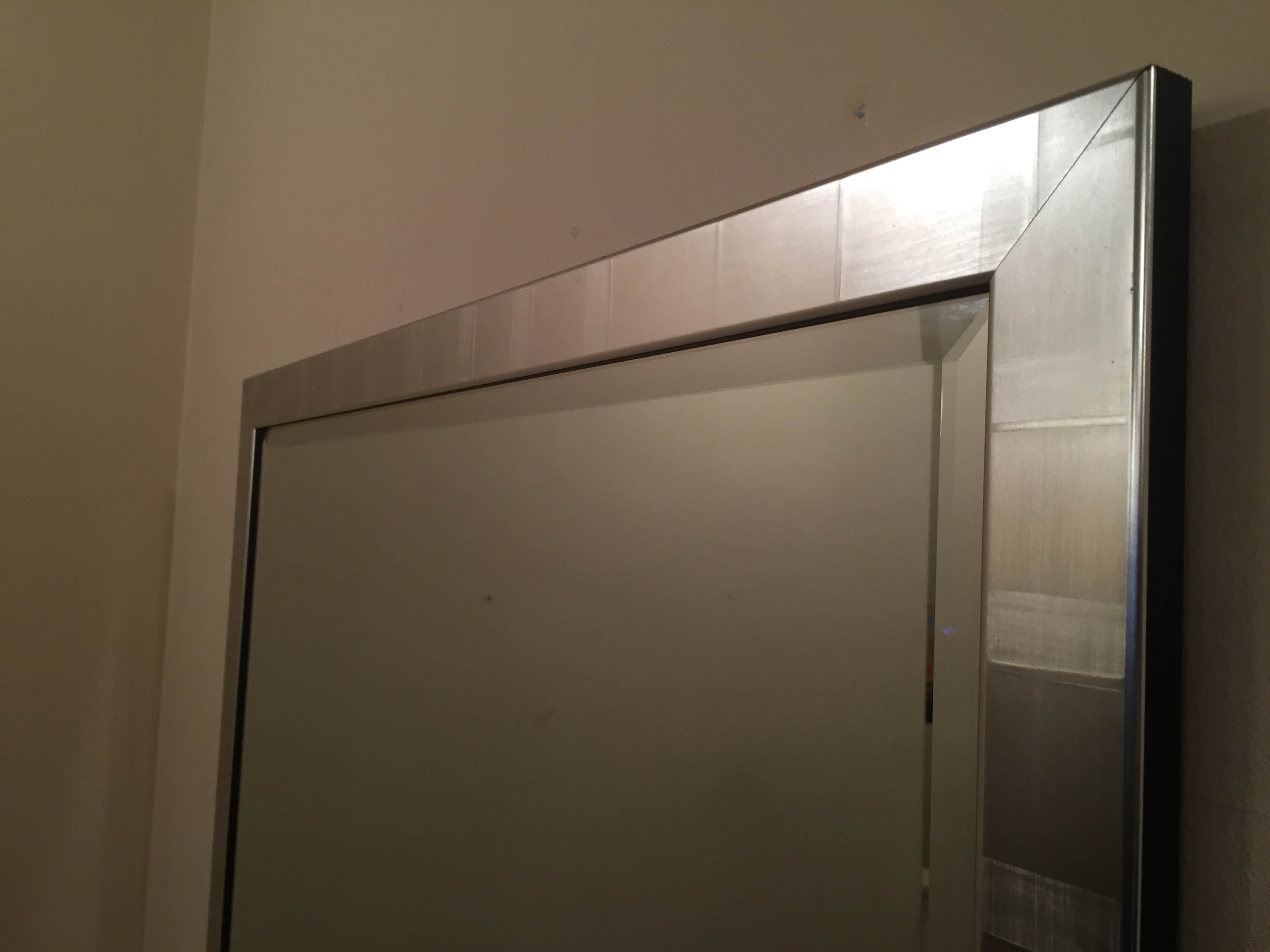 1 x wall mirror with beveled edge dimensions 60 x 82 for Mirror 45 x 60