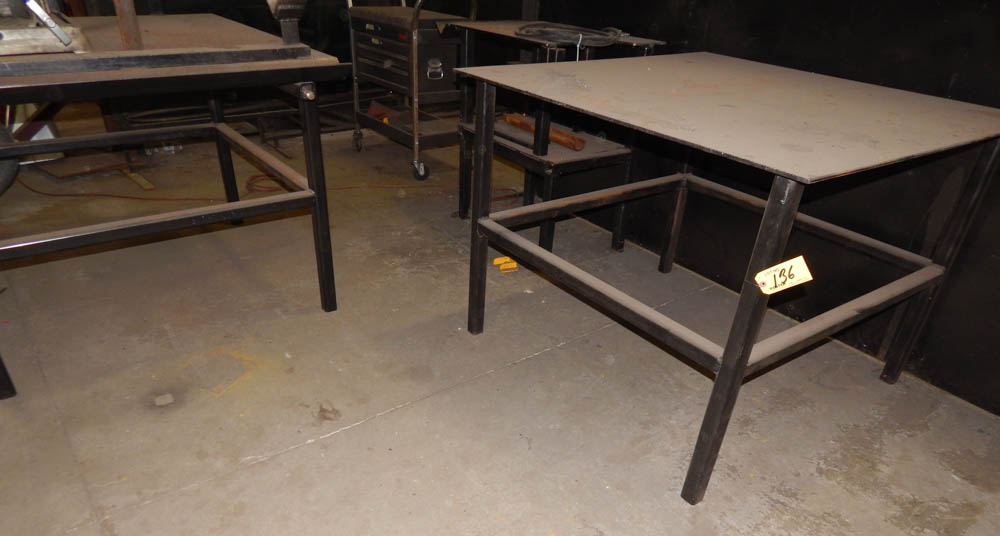 3 heavy duty steel work tables located in houston tx for Table 52 houston