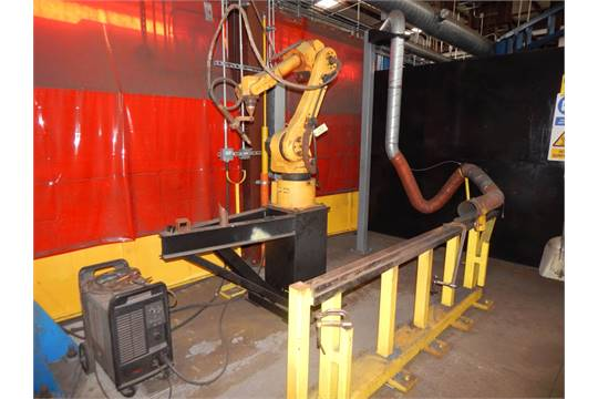 FANUC ROBOT ARC MATE 120iBE ROBOT, WITH POWERMAX 1650 G3 SERIES