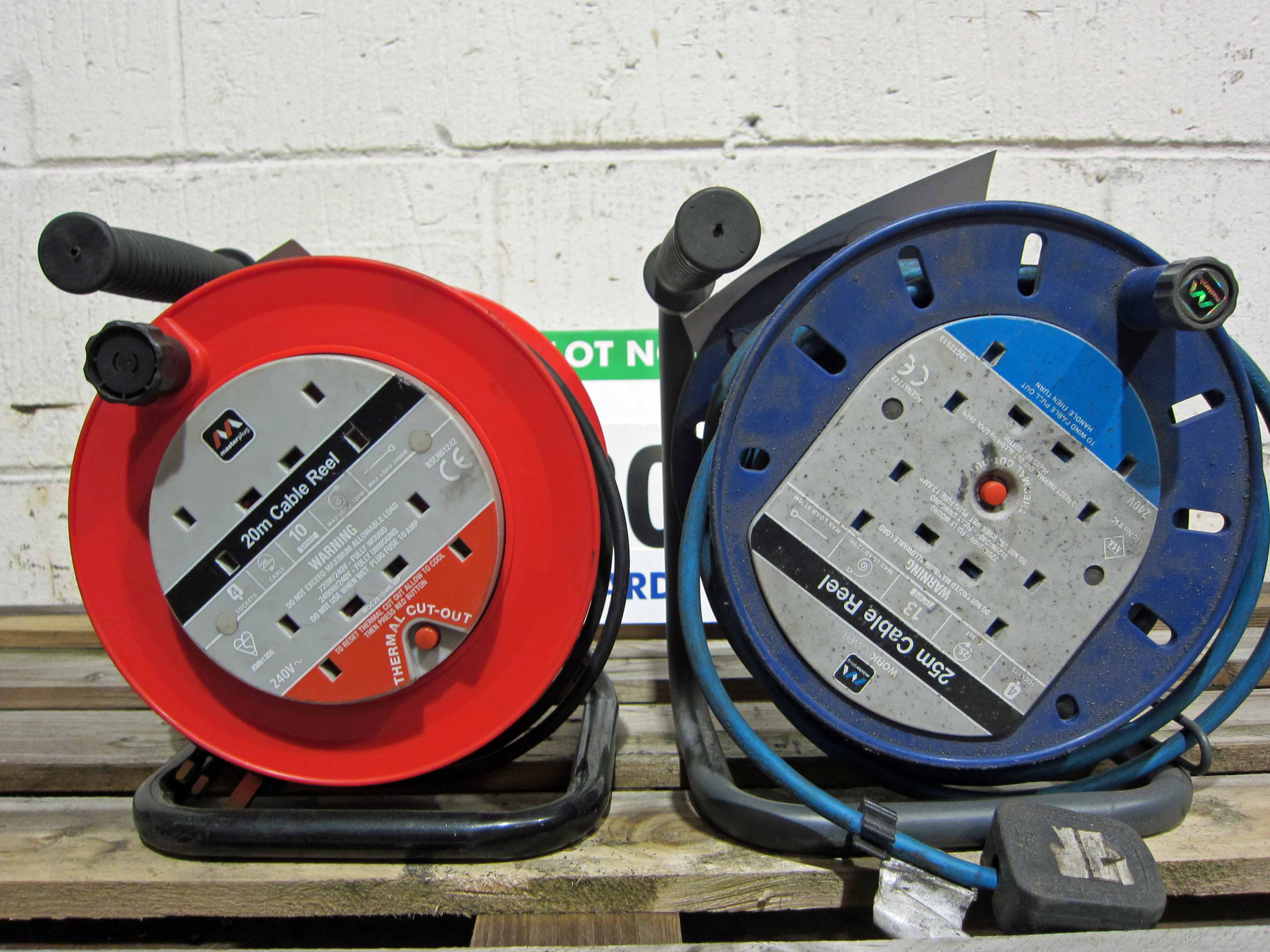 Two 240V (One 25M and One 20M) Reeled Extension Leads - Image 2 of 2