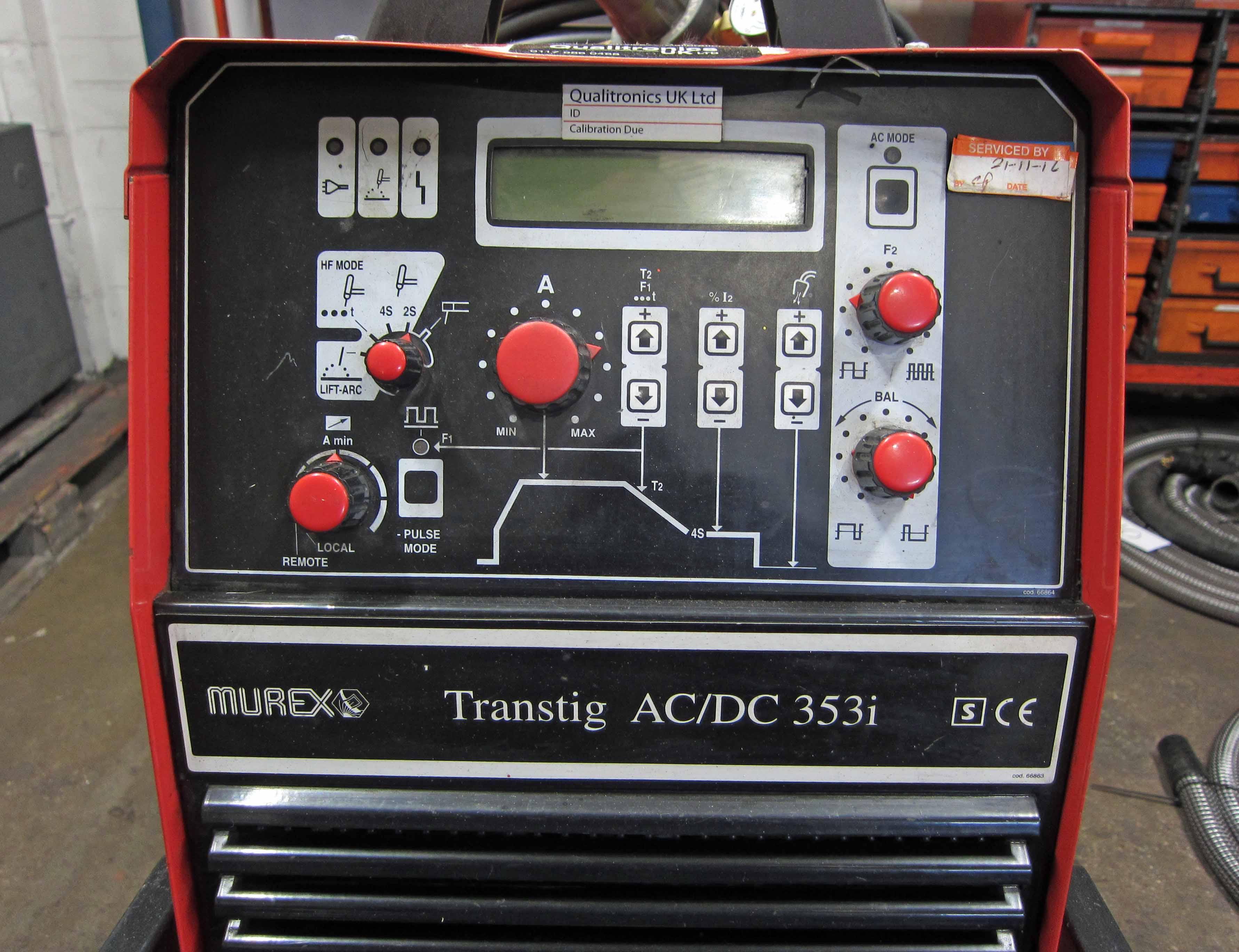 A MUREX Model Transtig AC/DC 353i Tig Welder, Serial No. 0602243, complete with MUREX Model TWCU, - Image 5 of 9
