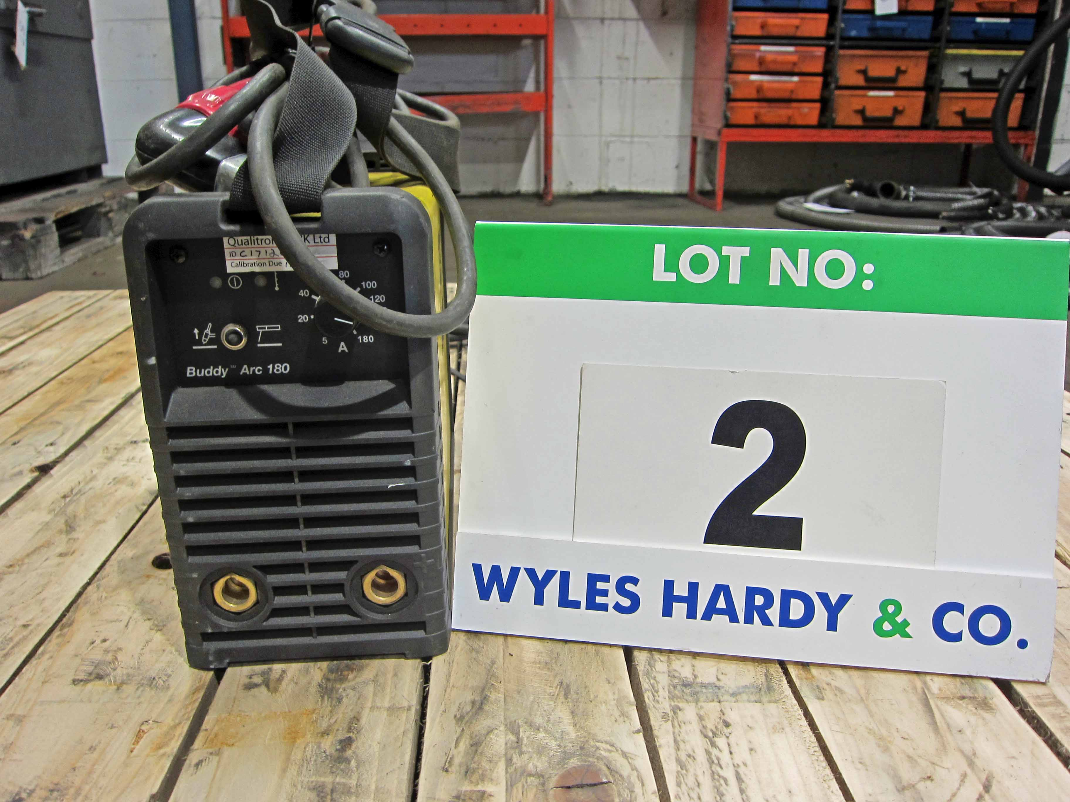 An ESAB Buddy Arc 180 240V Portable Arc Welder complete with Torch (Calibrated to November 2020)