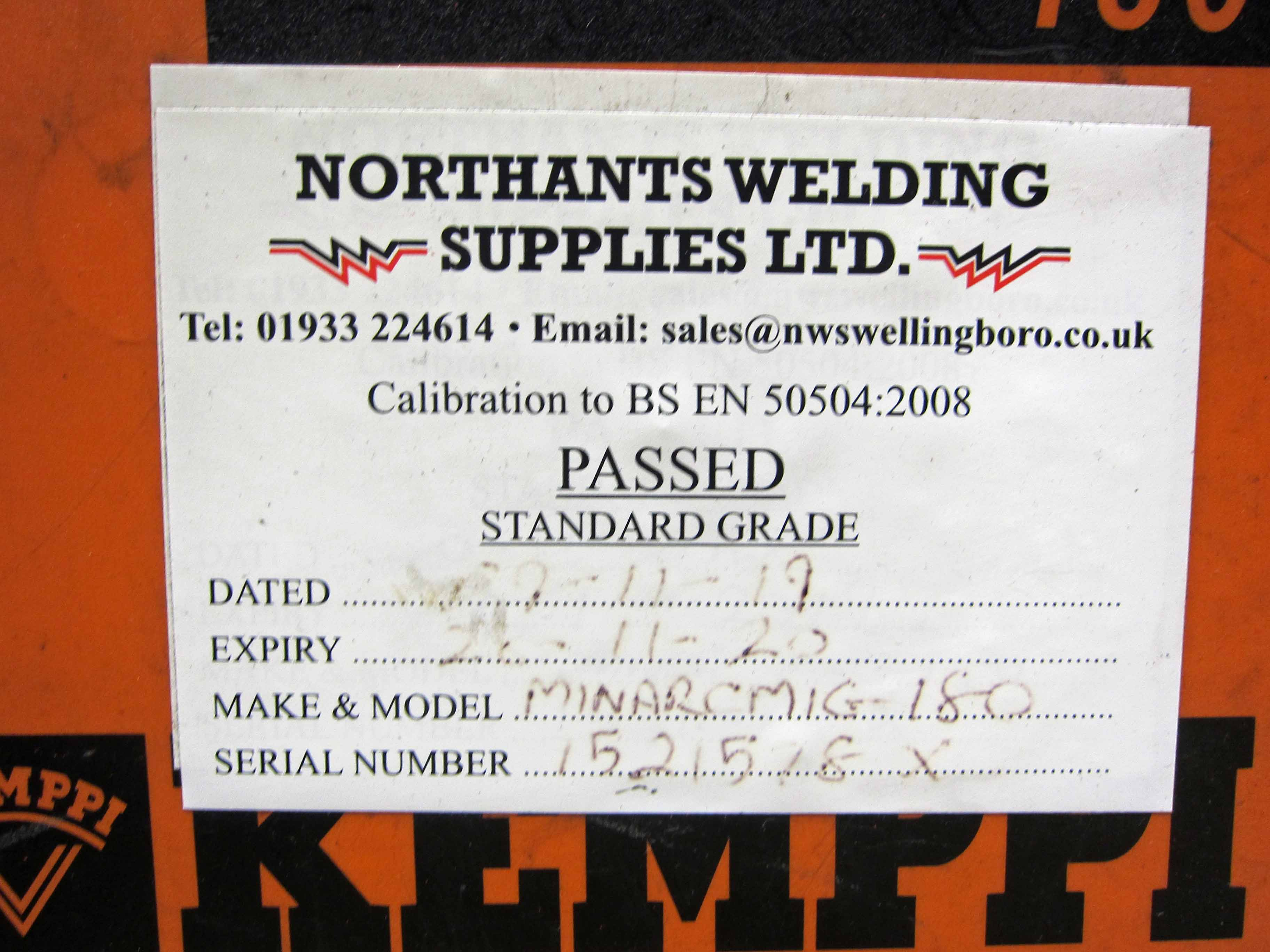 A KEMPPI MinArc Mig Model Adaptive 180 240V Portable Mig Welder complete with Gun and Earth Lead ( - Image 4 of 6