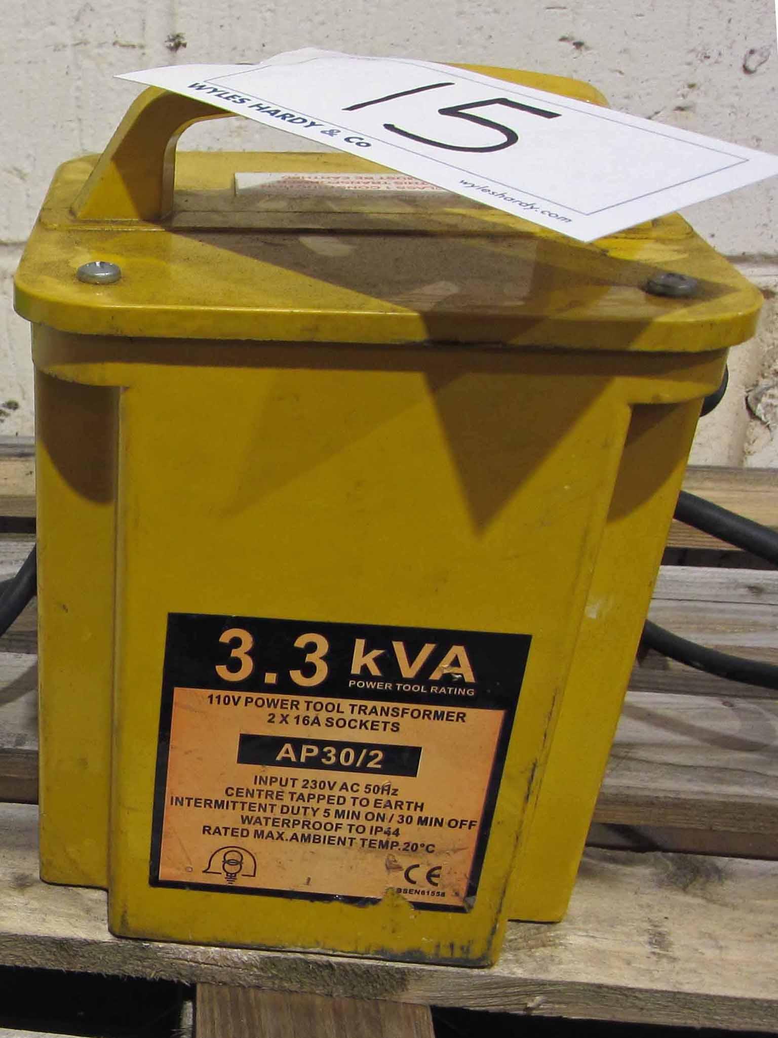 A 3.3 KVA 2-Outlet 110V Site Transformer - Image 2 of 2