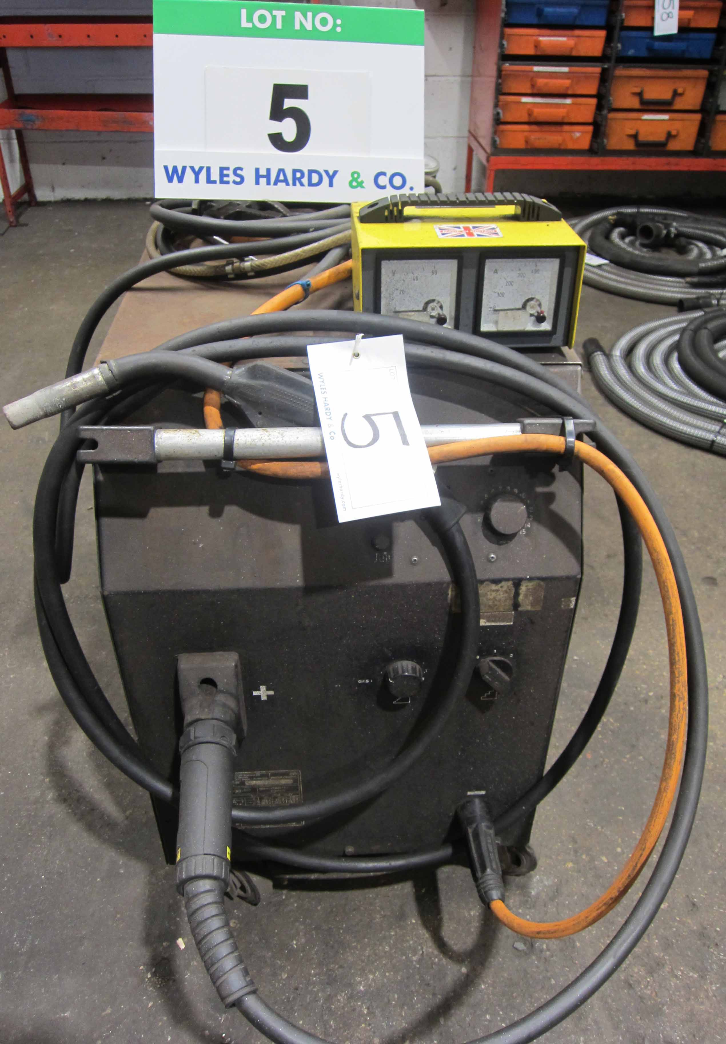 A MIGTRONIC Model Mig 300 Mig Welder complete with QUALITRONICS Voltage and Amp Meters and Gun,