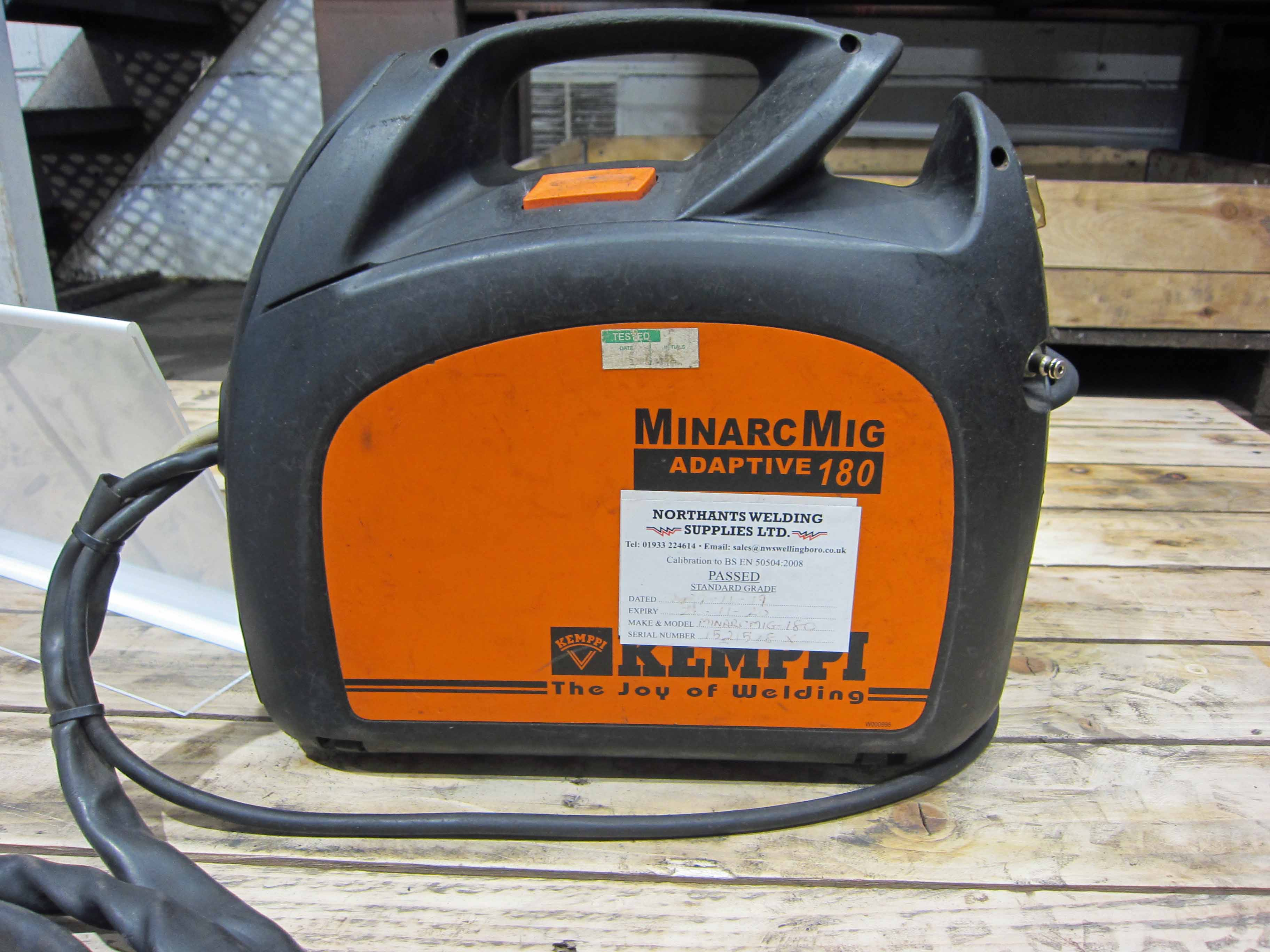 A KEMPPI MinArc Mig Model Adaptive 180 240V Portable Mig Welder complete with Gun and Earth Lead ( - Image 3 of 6