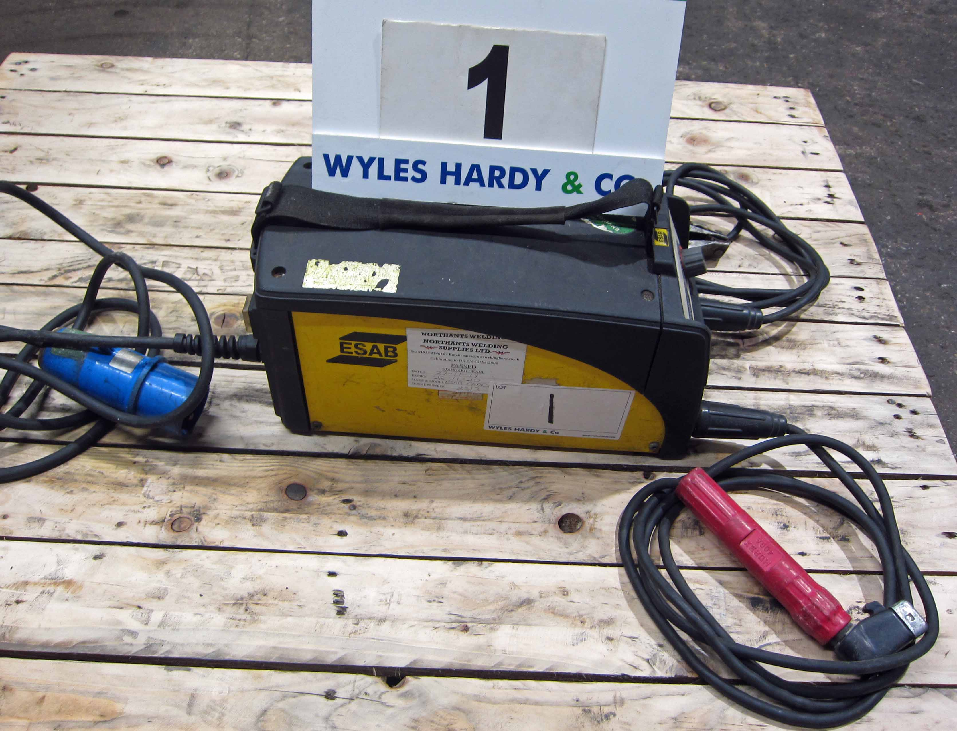 An ESAB Caddy Model A31 240V Portable Arc Welder complete with Torch and Earth Lead (Calibrated to - Image 2 of 5