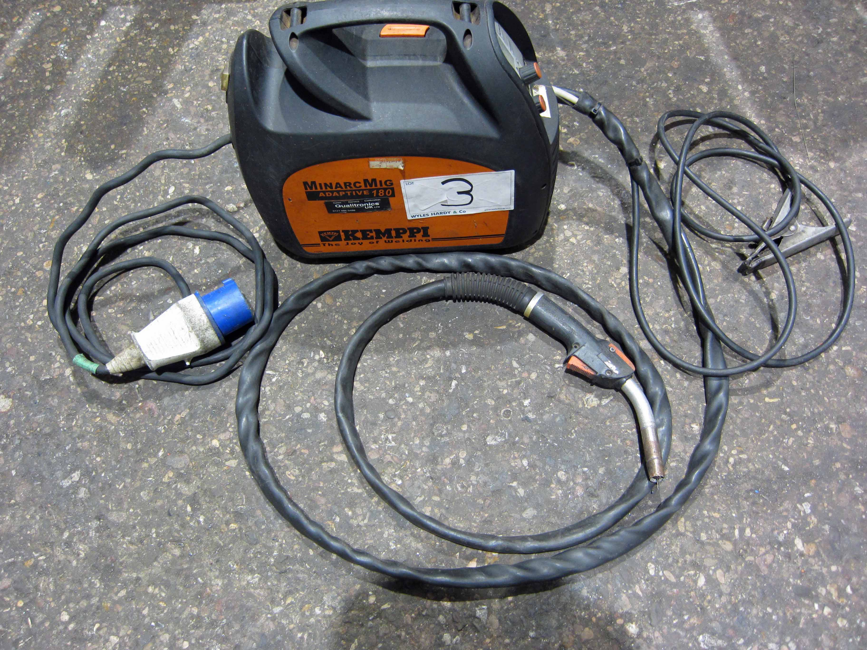 A KEMPPI MinArc Mig Model Adaptive 180 240V Portable Mig Welder complete with Gun and Earth Lead ( - Image 5 of 6