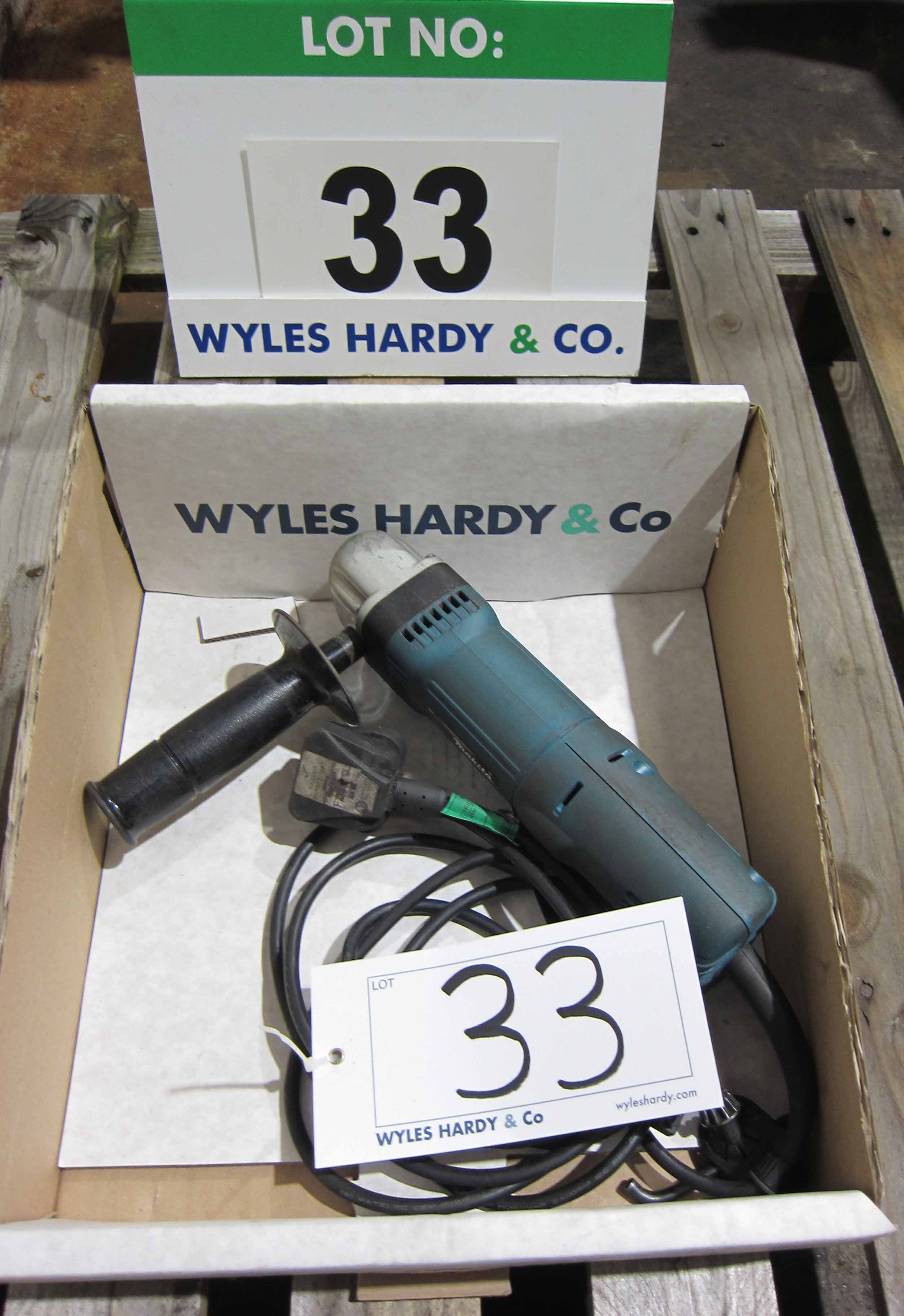 A MAKITA Model DA3010 240V 90 Degree Drill, Max. 10mm dia.