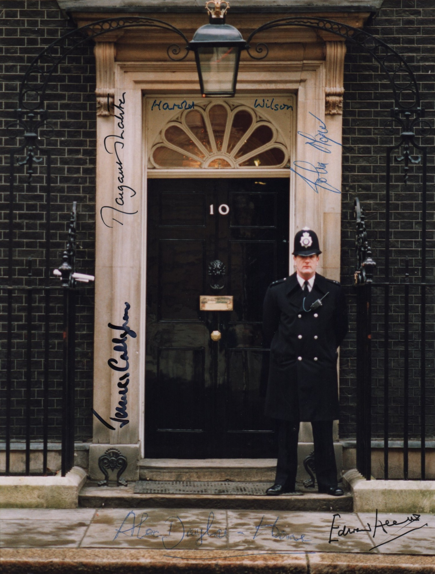 Lot 246 - BRITISH PRIME MINISTERS: An excellent colour 8 x 10 photograph of the entrance to 10 Downing Street