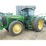 1997 8300 JD MFWD, 18.4 R46 10 bolt duals, 14.9-34 fronts, quick coupler, Big 1000 PTO, 6 front
