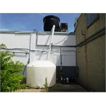 Delta Pioneer Forced Draft cooling tower (on roof) c/w plastic tank, blower & Tri-Clover s/s pump,