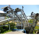 (2) s/s inclined belt conveyors & (1) s/s bucket elevator & s/s chutes