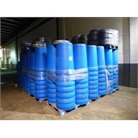 lot of Sonoco 55 USG. reusable plastic drums, No.055B c/w quantity of lids (roughly +/- 300 drums)