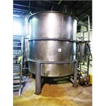 Perry Products s/s mixing tank, mod. VCX, ser. no. A8553 I, 2,000 USG., approx. 6' diam. x 7' high