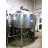 Creamery Package s/s steam-jacketed dome-top processor kettle, ser. no. P500.8743, 500 USG., 50