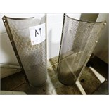(2) unmatched s/s finishing screens, size: unmarked