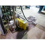 Waukesha s/s positive displacement pump, mod. 180-U2, ser. no. 238198-99 with 15 h.p. Eurodrive VSD,