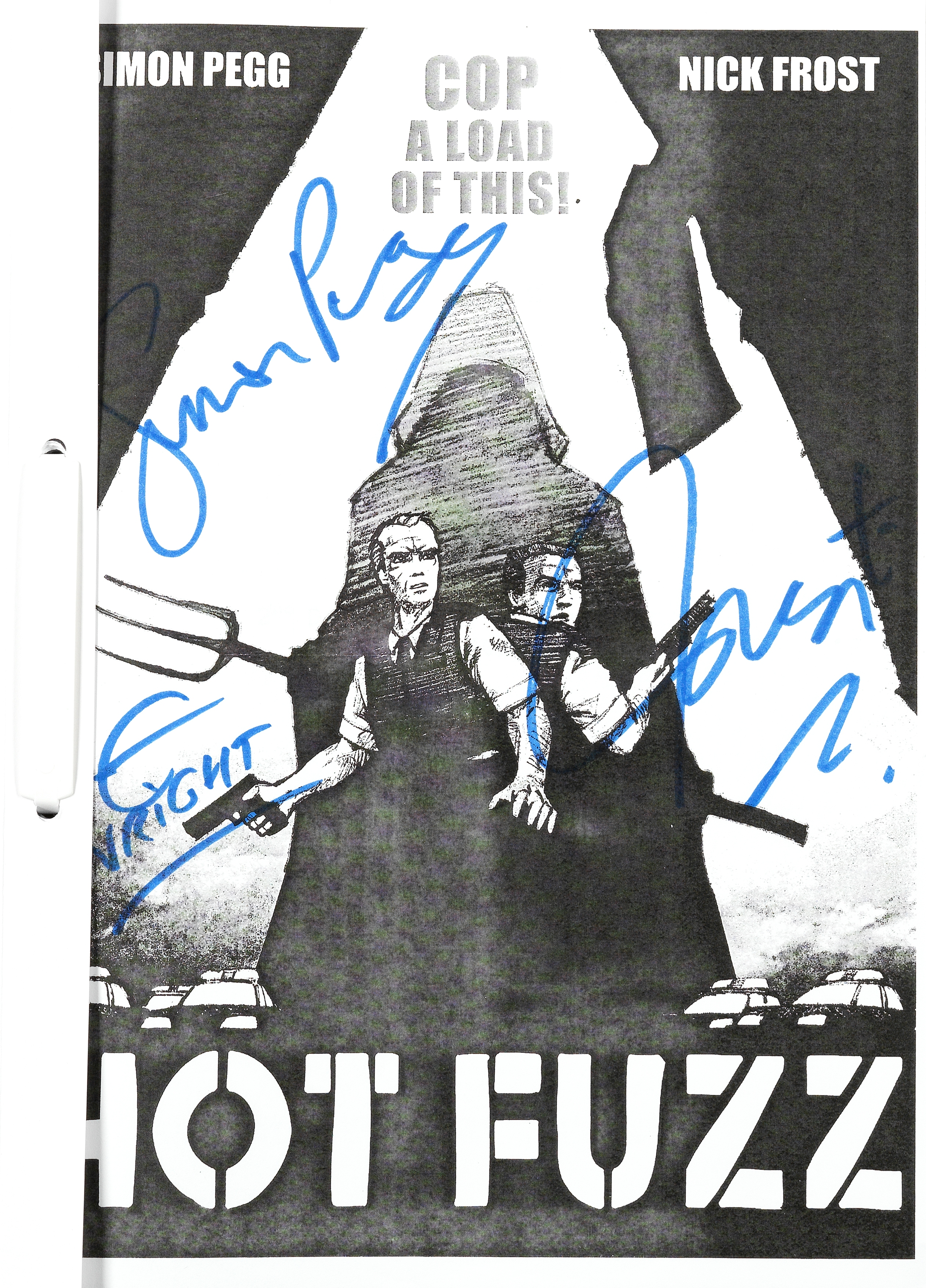 Hot Fuzz: An autographed second draft script, Working Title, 2007,