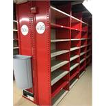 """26 SECTION OF HALLOWELL H-POST CLOSED BACK SHELVING, SIZE : 98.5""""H X 18""""D X 36""""W WITH 5 SHELVES EACH"""
