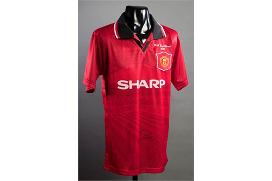 buy popular f3c71 653a1 Eric Cantona signed Manchester United 1996 F.A. Cup Final ...