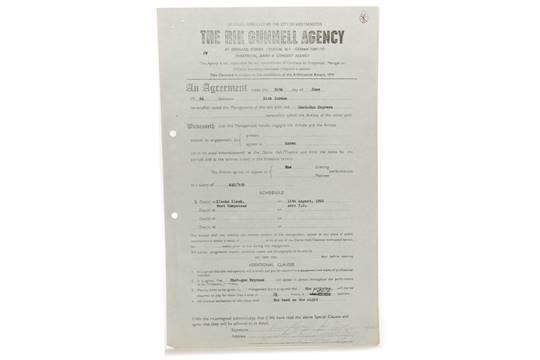 Shotgun Express Rod Stewart Original Rik Gunnell Agency Contract